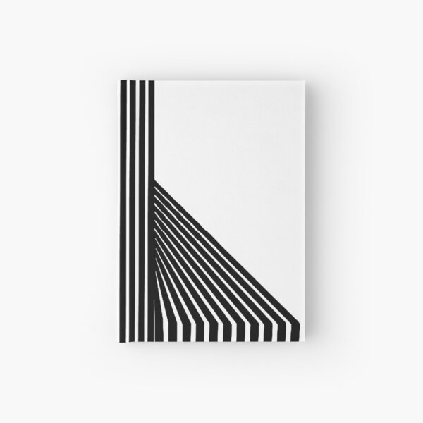 Abstract twist lines Hardcover Journal