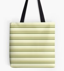 Green, Brown and Gold Stripes Tote Bag