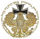 Prussian Eagle and Iron Cross with text circle by edsimoneit