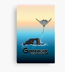Galapagos Mantarraya and Arch of Darwin Canvas Print