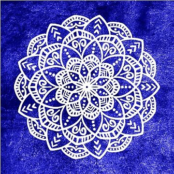 Blue Mandala Sticker by AlaskaGirl