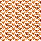 Decorative template with fiery hearts. by starchim01