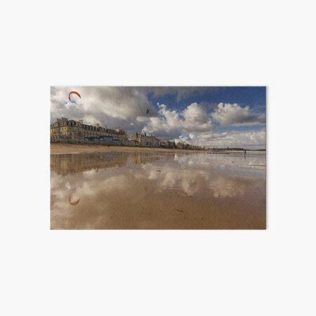 La grande plage du Sillon à Saint-Malo Impression rigide