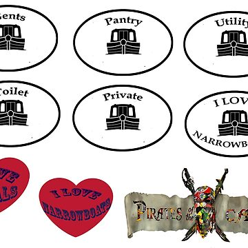 Canal Sticker set bywhacky  by bywhacky