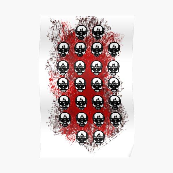 Error face multi skull Poster