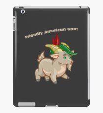 Friendly American Goat iPad-Hülle & Klebefolie