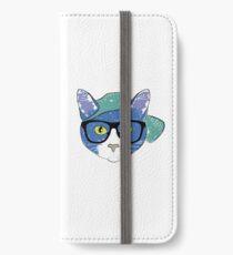 Smart Cat Blue iPhone Wallet/Case/Skin