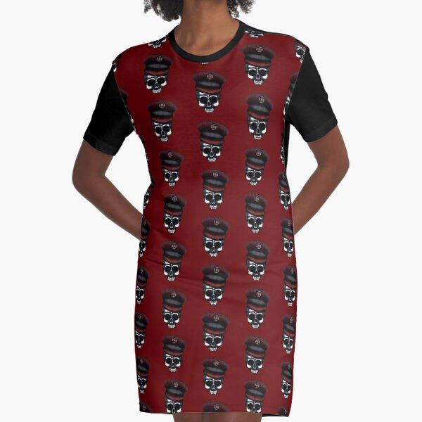 Errorface Skull General Graphic T-Shirt Dress