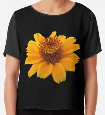 zauberhafte orange Blume, Blüte Chiffontop für Frauen