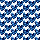 Decorative template with electric hearts by starchim01