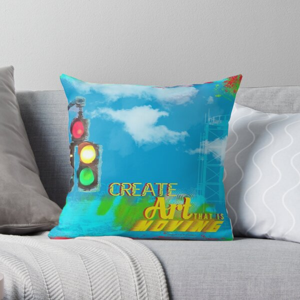 Create Moving Art Throw Pillow