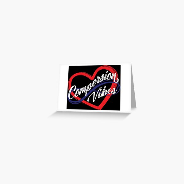 Polyamory Heart Compersion Vibes  Greeting Card