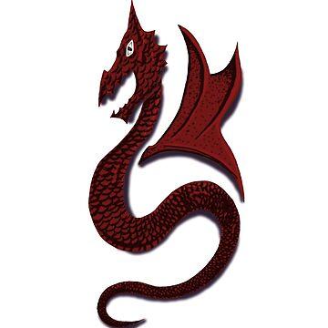 JB Prints Co: Red Dragon Detailed Design by jbprintsco