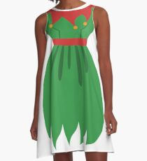 Elf Women Holiday Party Costume A-Line Dress