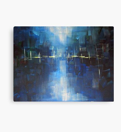 River - Abstract Landscape Canvas Print