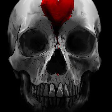 love skull by wetchickenlip