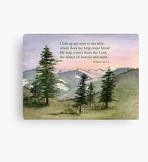 Heavenly Help -  Psalm 121:1-2 Canvas Print