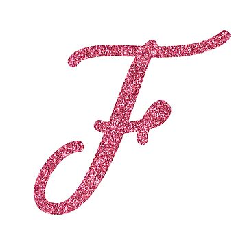 """Pink Glitter Letter """"F"""" by QthePhotog"""