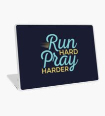 Christian Runner Run Hard Prayer Harder Laptop Skin