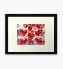 Hearts Afire Abstract Framed Print