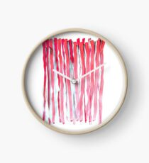 lines Watercolor illustration Clock