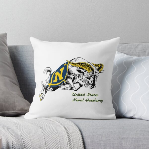 THE USNA Rampaging Goat! Throw Pillow