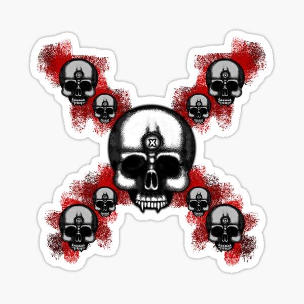 Errorface Skull Cross Sticker