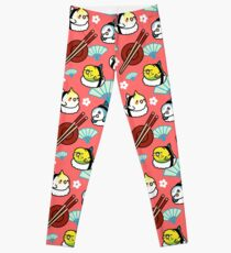 Sushi Time with Cody the Lovebird & Friends Leggings
