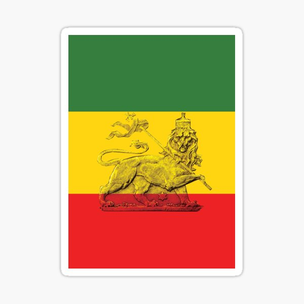 Lion of Judah Rasta Colours Sticker