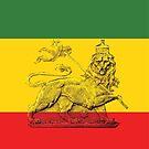 Lion of Judah Rasta Colours by rastaseed