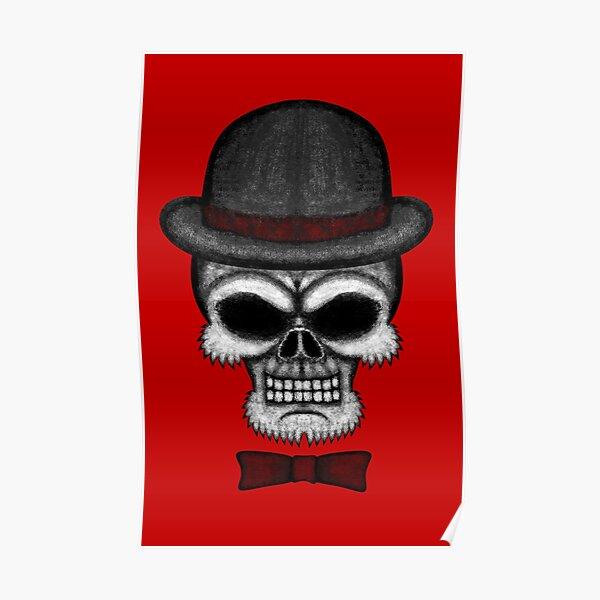 Errorface gentleman Skull Poster