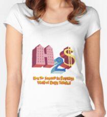 Camiseta entallada de cuello redondo Cómo tener éxito en los negocios sin realmente intentarlo