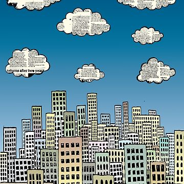 The city of paper clouds by mangulica