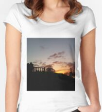 Fire in the Sky Women's Fitted Scoop T-Shirt
