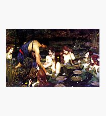 Hylas and the Nymphs - John William Waterhouse  Photographic Print