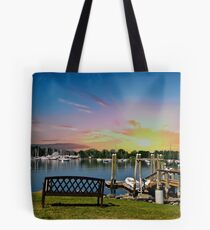 Sunset in Rhode Island Tote Bag