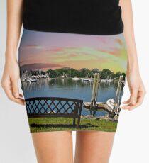 Sunset in Rhode Island Mini Skirt