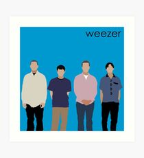 weezer blue album Art Print