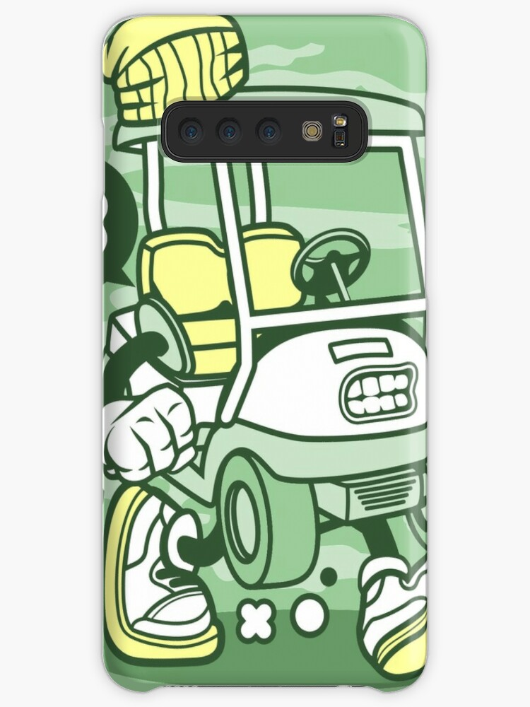 Golf Cart Cartoon Golfing Game Golfer Case Skin For Samsung Galaxy By Scooterbaby Redbubble