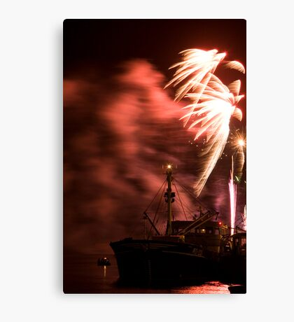 Fireworks in  Wexford, Ireland Canvas Print
