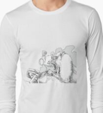 Mandrill biker is angry Long Sleeve T-Shirt