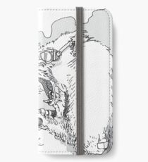 Mandrill biker is angry iPhone Wallet/Case/Skin