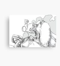 Mandrill biker is angry Canvas Print