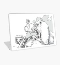 Mandrill biker is angry Laptop Skin