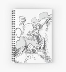 Mandrill biker is angry Spiral Notebook