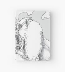Mandrill biker is angry Hardcover Journal