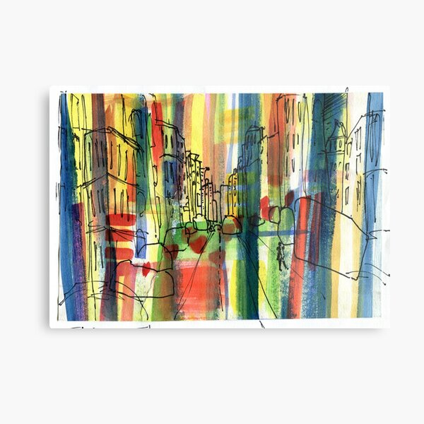 Colourful Streets Metal Print