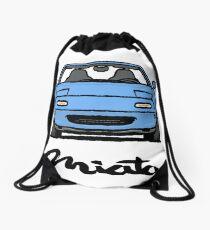 MX5 Miata NA Light Blue Drawstring Bag