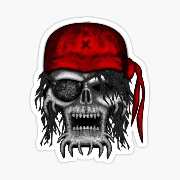Errorface Pirate Skull Sticker