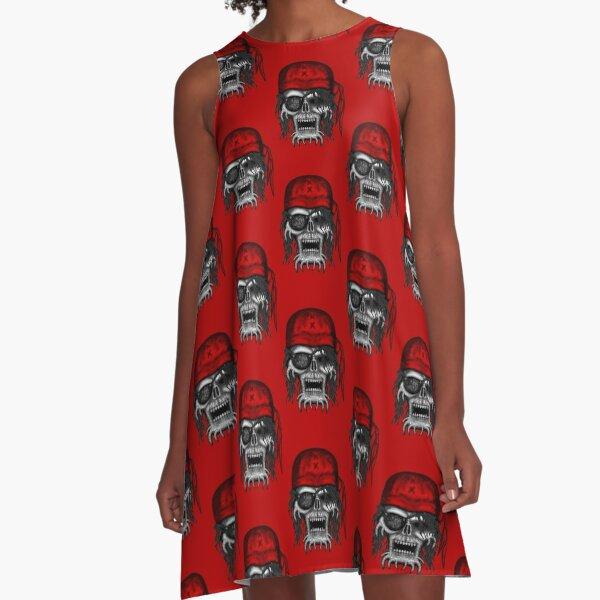 Errorface Pirate Skull A-Line Dress